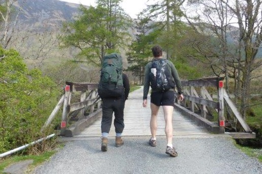Backpackers large and small