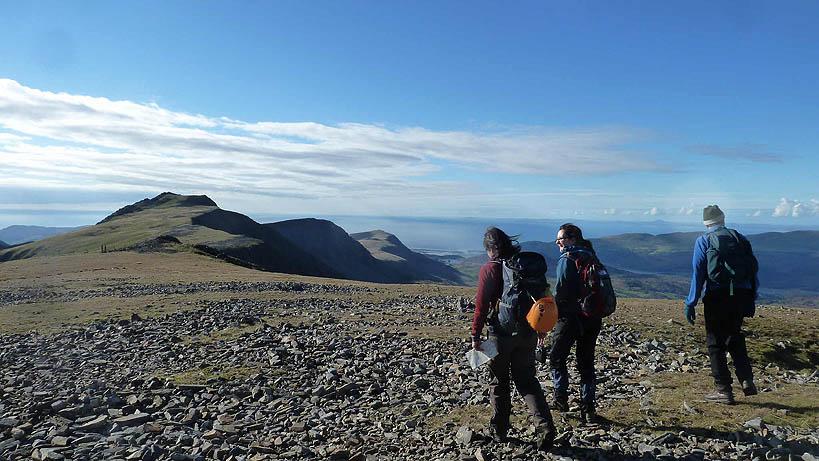 Cadair Idris summit plateau