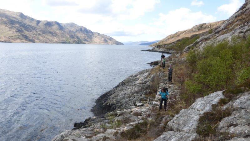 Costal walk Loch Hourn