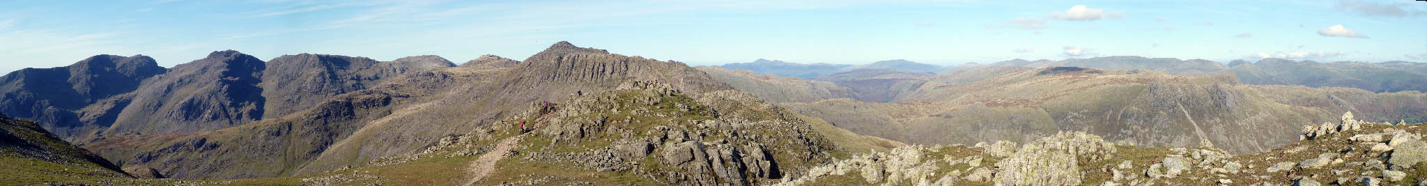 Panorama from Crinkle Crags