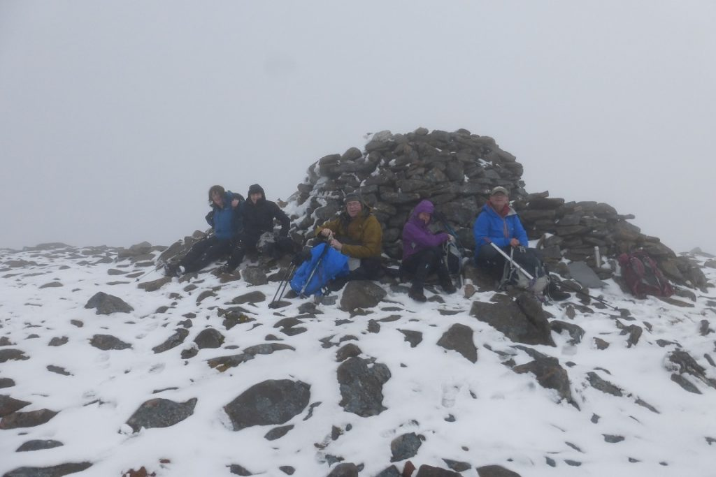 Not a great view from the summit of Maol Chean-dearg