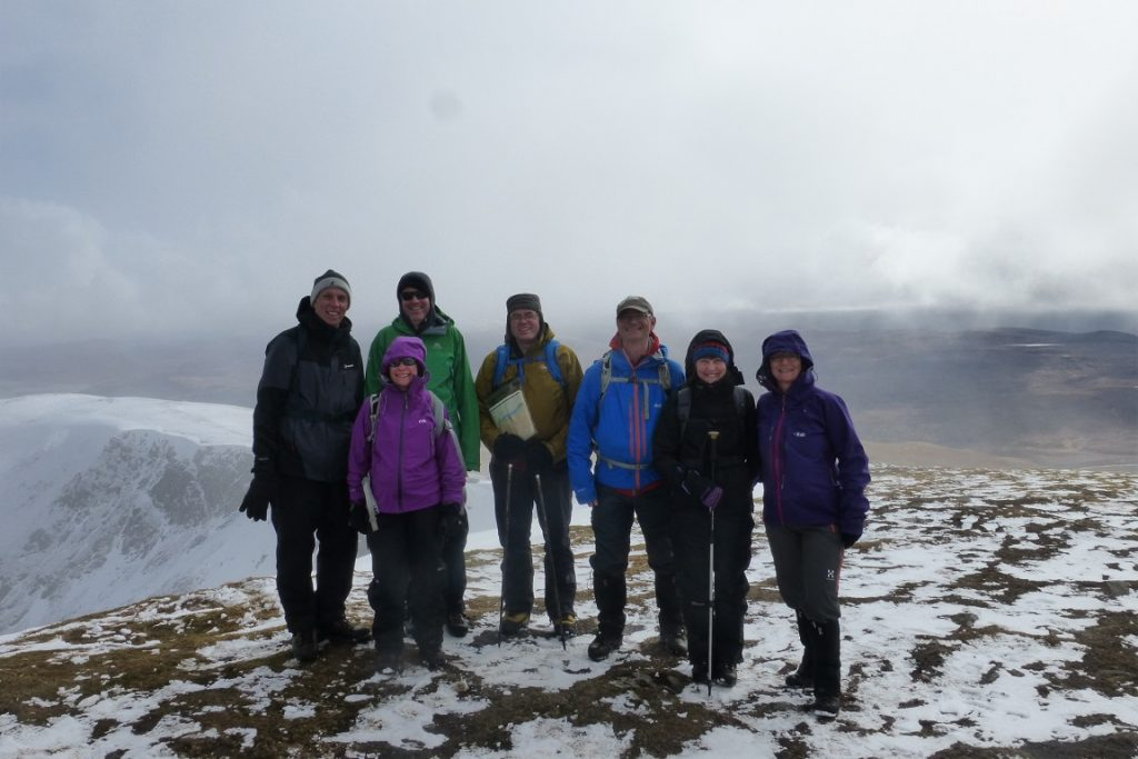 The clouds cleared for the summit of Fionn Bheinn