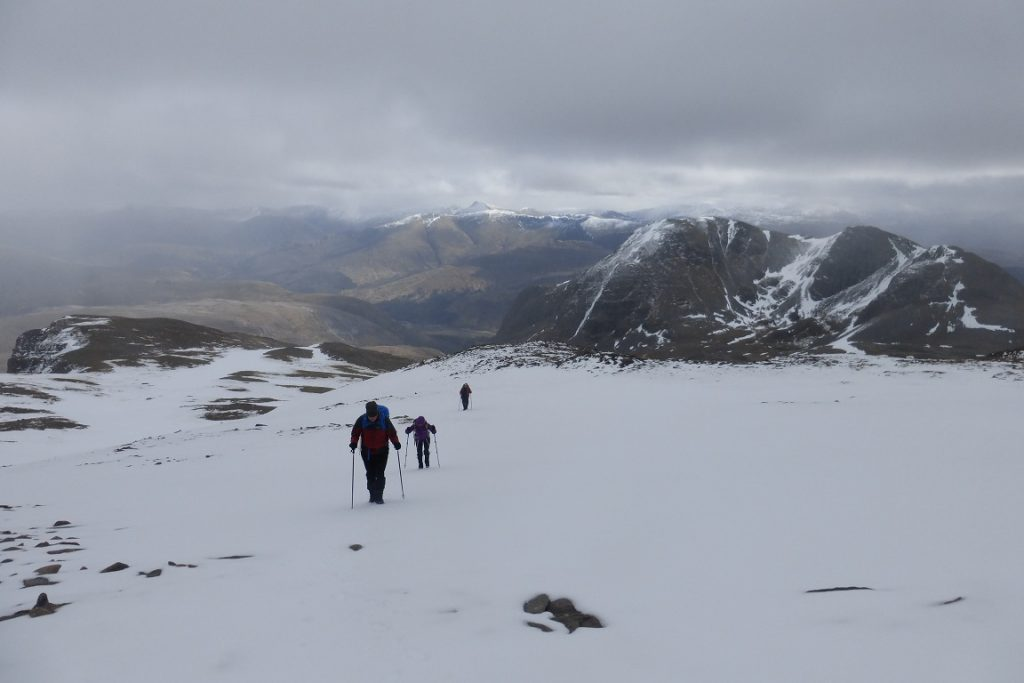 Arriving at the summit of Sgorr Ruadh