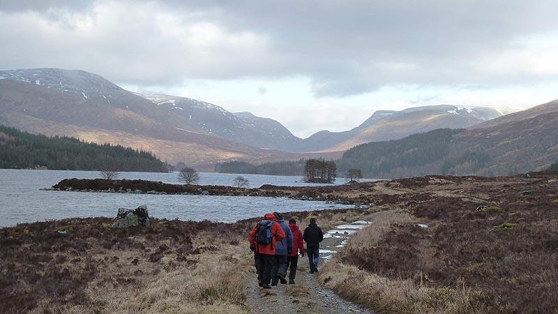 The walk in along Loch Ossian