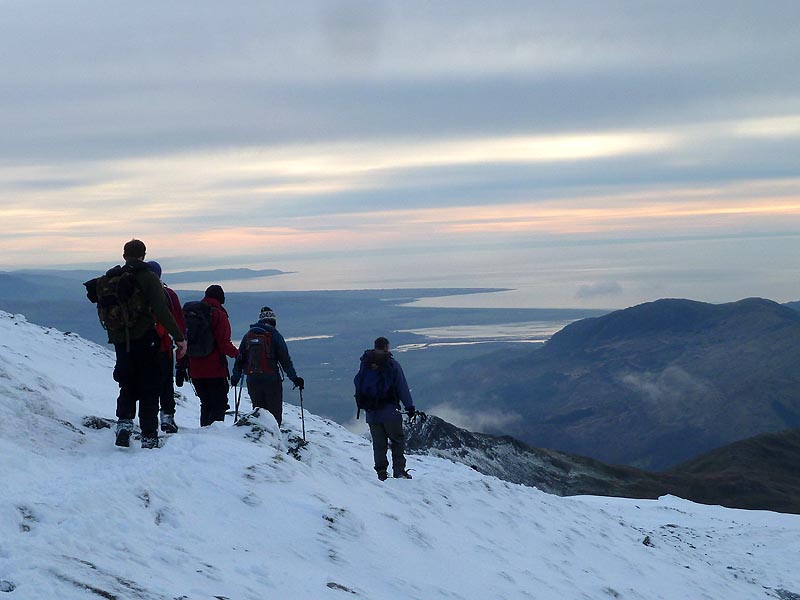 Descending the SW ridge of Snowdon