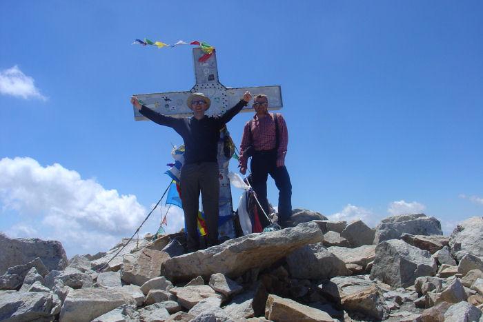 Dave W and Dan on Pico de Aneto, 2009