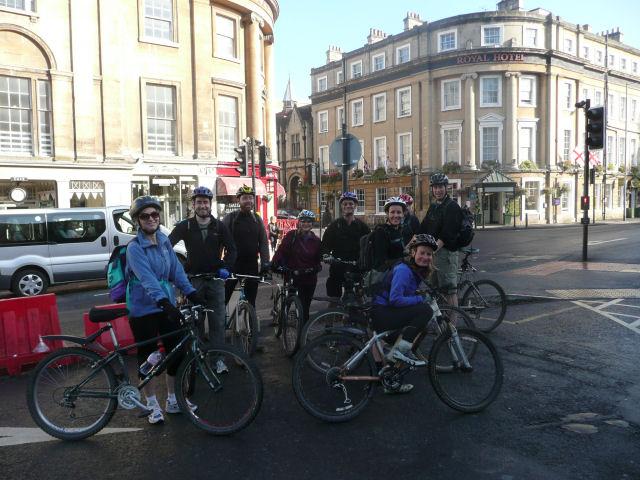 The start point. Bath-Newbury bike ride, October 09