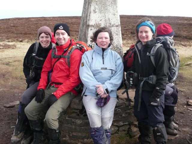 Sarah, Bruce, Rhoda and Keyna, Black Mountains, Feb 09