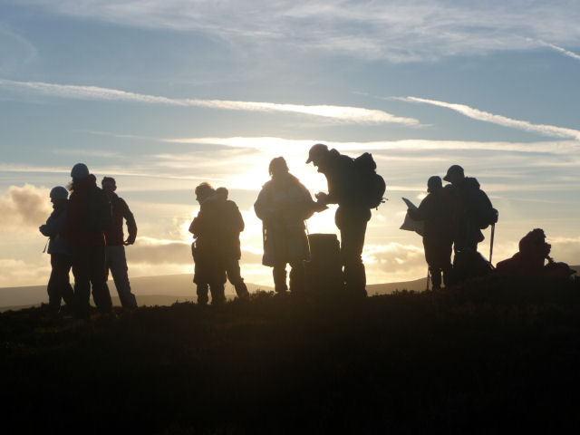 Still out at sunset. Black Mountains, Feb 09
