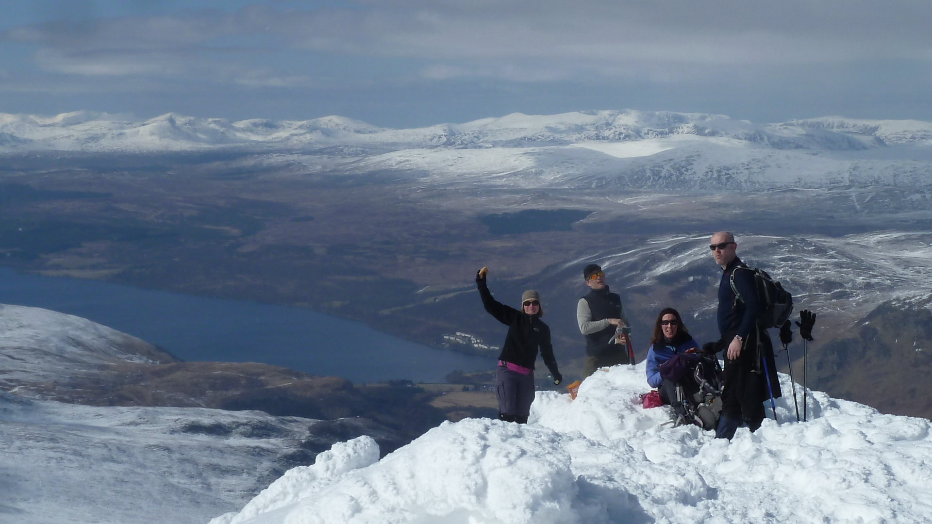 On summit of Schiehallion
