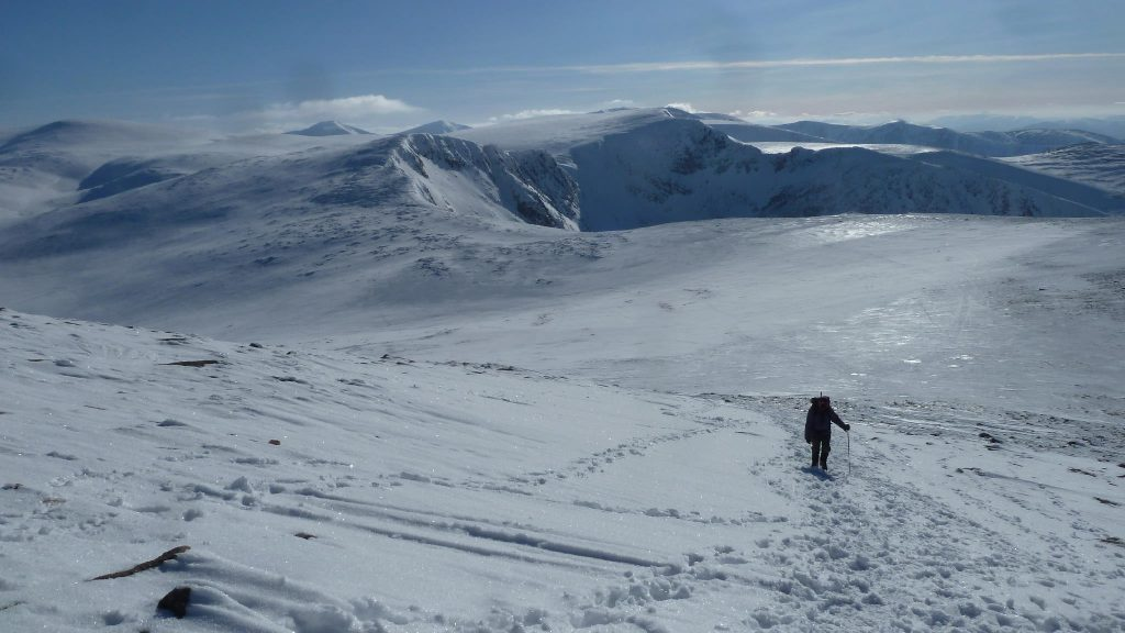 Between Ben Macdui and Cairngorm