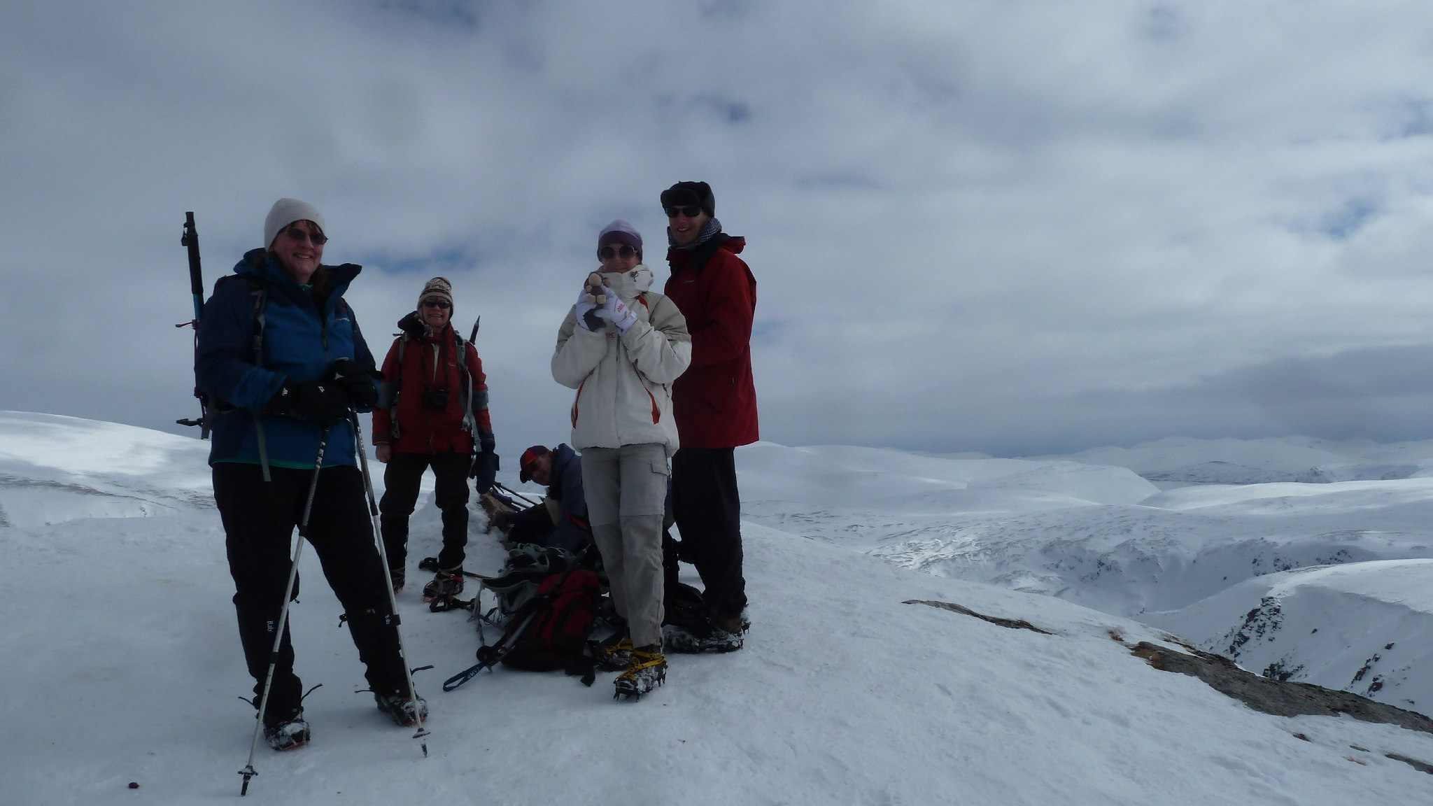On summit of Sgor Gaoith