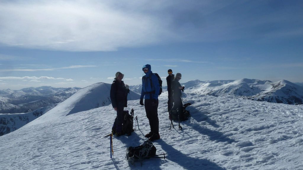 On summit of Stob a Choire Mheadhoin
